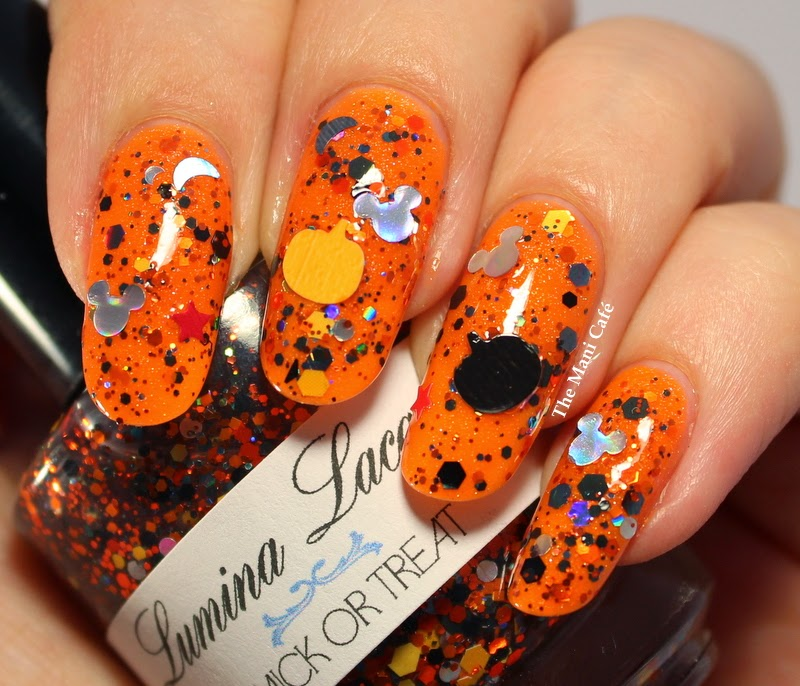 The Mani Café: Happy Halloween - The Nail Junkie Orange ...