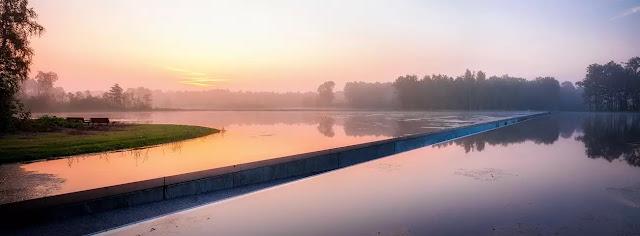 Cycling trough water belgia