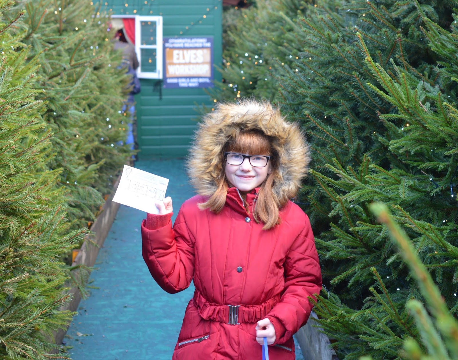 Top Tips for Driving to Edinburgh Christmas Markets with Kids- Christmas tree maze exit