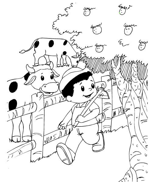 10 Desenhos Para Colorir Sobre Produtor Rural Mundinho Da Crianca
