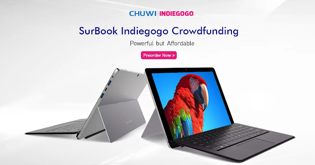 【CHUWI SurBook】中華メーカーCHUWIから本機でSurface対抗の2-in-1が登場。319ドル~クラウドファンディング中