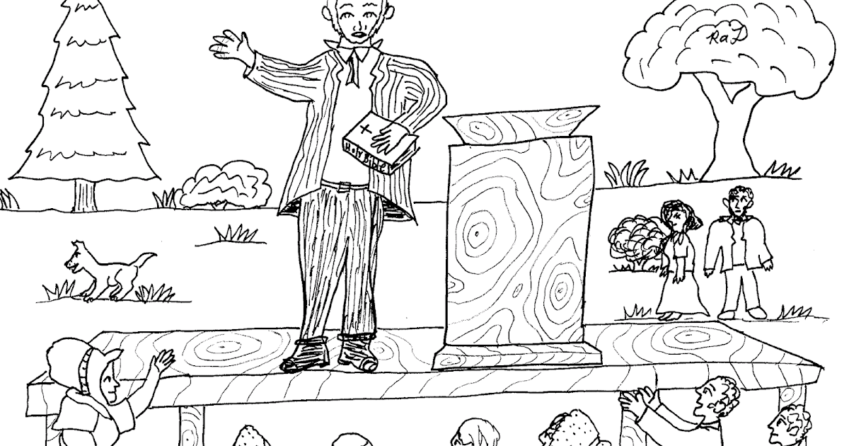 Robin's Great Coloring Pages: Joseph Smith and Brigham