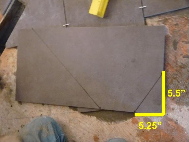 how to measure and cut vinyl floor tiles