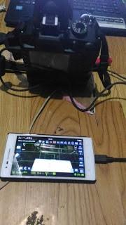 ara menggunakan Aplikasi Dashboard android demi mengontrol kamera dslr