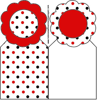 Red Polka Dots in Black and White Free Printable Bookmarks.