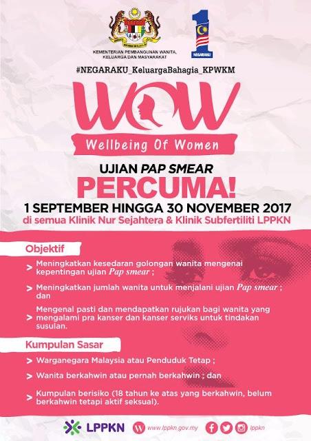 LPPKN Free Pap Smear Test 2017