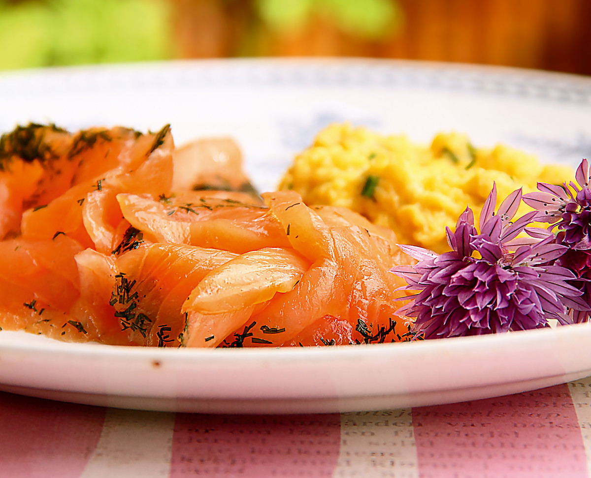 The low carb diabetic sweet and salt cured salmon with for Salt cured fish