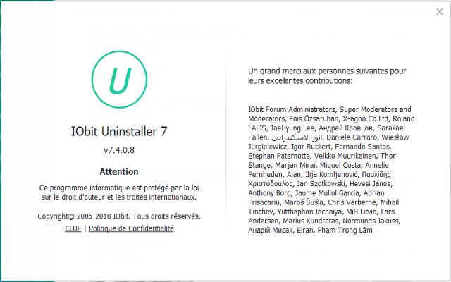 تفعيل البرنامج الكبير  IObit Uninstaller 7.4.0.8 Pro لحدف البرامج وتنظيف الجهاز