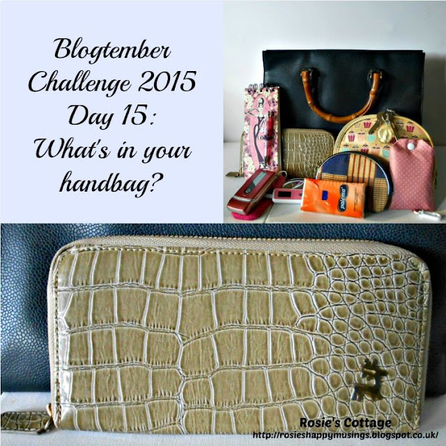 Blogtember Challenge Day 15 What's In Your Handbag