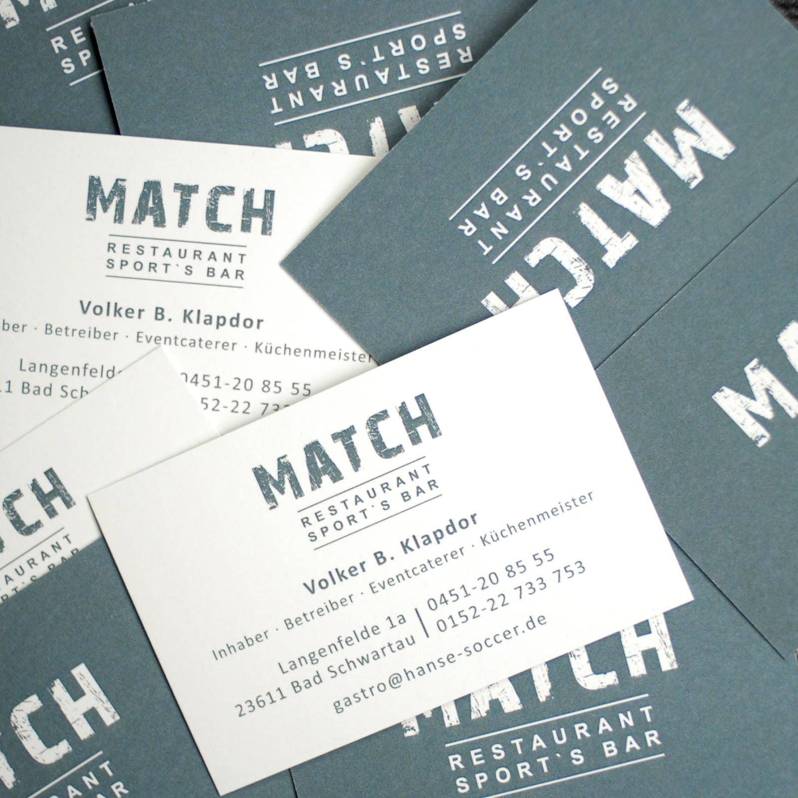 Logo Visitenkarten Für Restaurant Sport S Bar Match