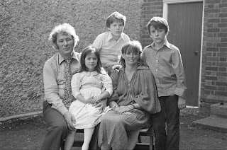 Seamus Heaney with his wife Marie, and children, c.late 70s.
