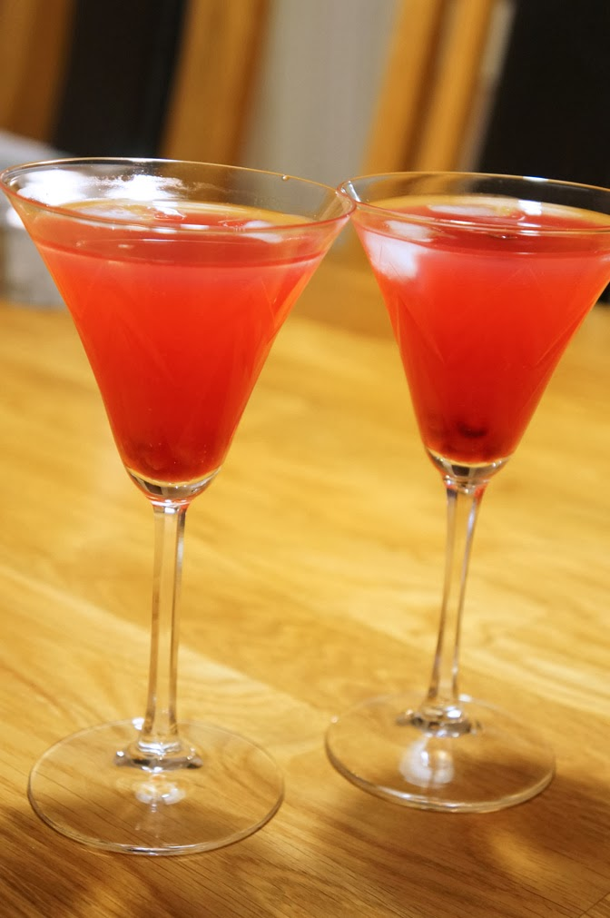 Pomegrante martini