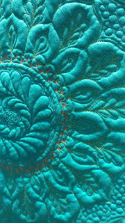 """Shelly's Bruswick Sampler"" was made by Klonda Holt of Leawood, KS and quilted by Dorie Hruska of Forever Quilting"