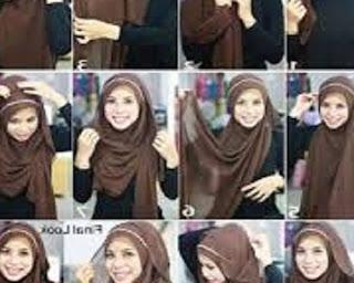 cara memakai jilbab segi empat untuk sekolah anak smp