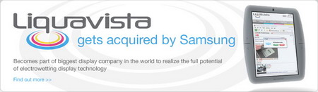 Samsung acquires display technology firm Liquavista, maker of the electrowetting display technology