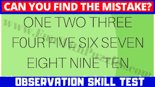 Can you find the mistake? ONE TWO THREE F0UR FIVE SIX SEVEN EIGHT NINE TEN