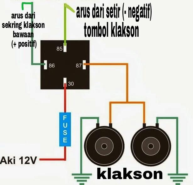 Panduan cara membuat relay klakson ccuart Images