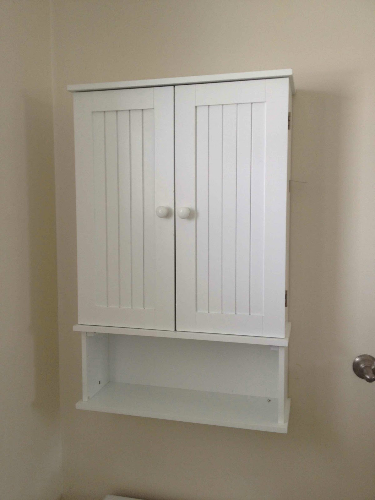 White Bathroom Wall Cabinet Over Ilet