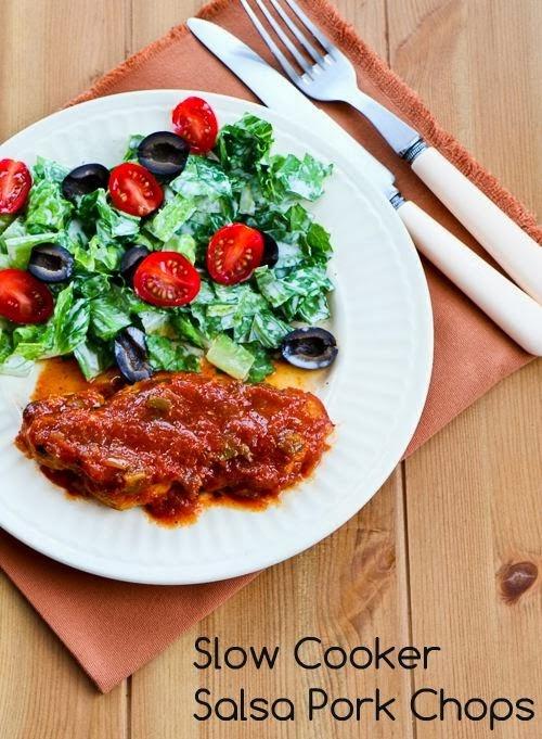 Slow Cooker Salsa Pork Chops