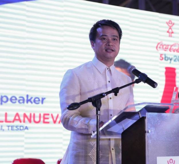 Joel Villanueva sporty incoming senator in traditional polo barong