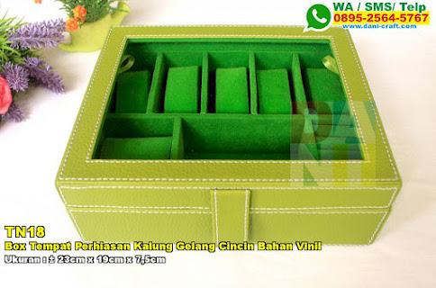 Box Tempat Perhiasan Kalung Gelang Cincin Bahan Vinil
