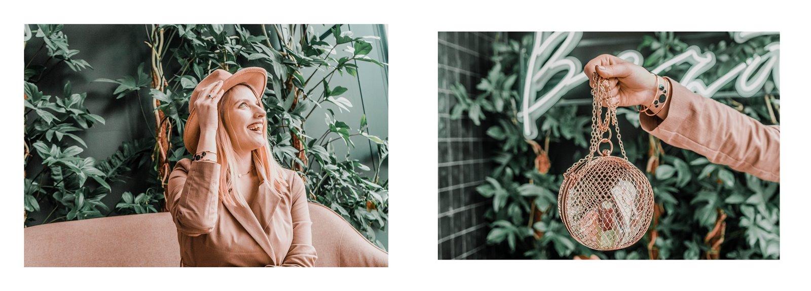 5a nakd sukienka julia wieniawa kolekcja ubrań cena gdzie kupić sukienka trendy na wiosnę 2019 sukienka o kroju płaszcza jak nosić kapelusz złota biżuteria apart torebka asos outlet satisfashion ocena jakość opinie łódź