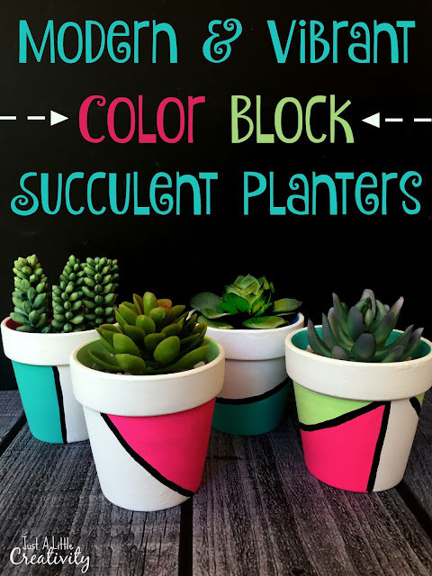 DIY Color Block planters