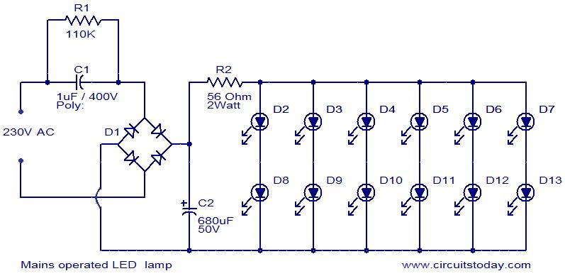 Mains Operated LED Lamp