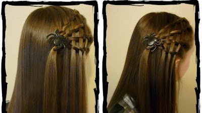 Halloween hair! Easy #spiderwebhair. Video tutorial.