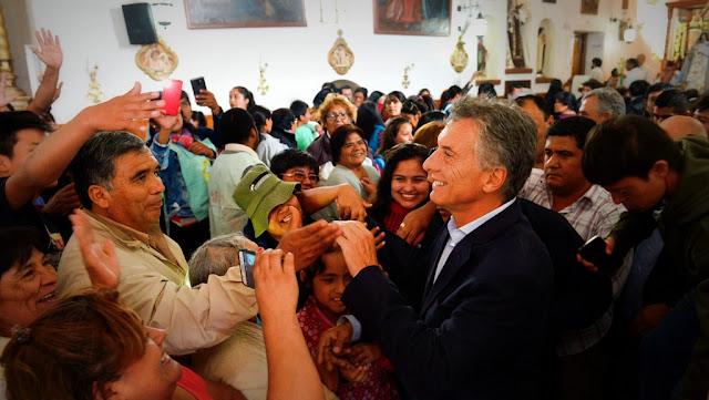 Macri participó de las celebraciones por la Virgen de la Candelaria en Humahuaca