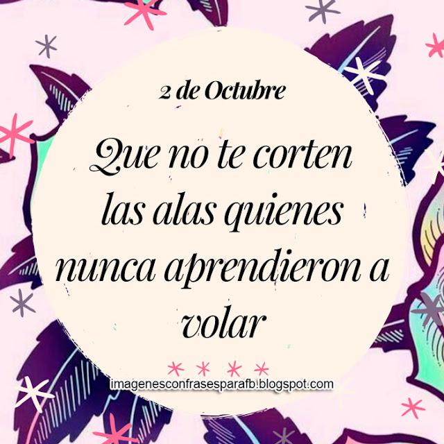 Frase del Día 2 de Octubre