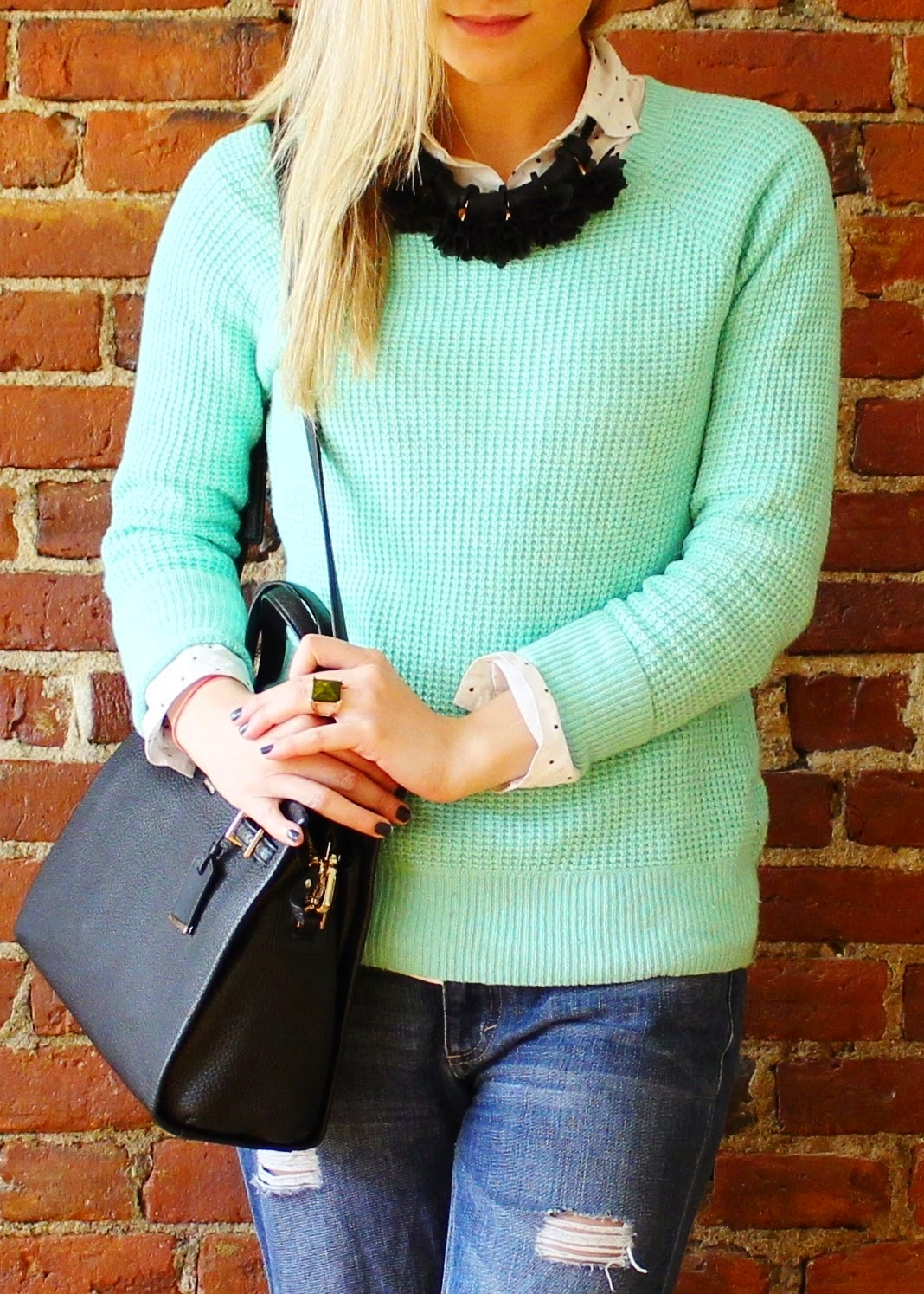 bijuleni - Jcrew mint sweater