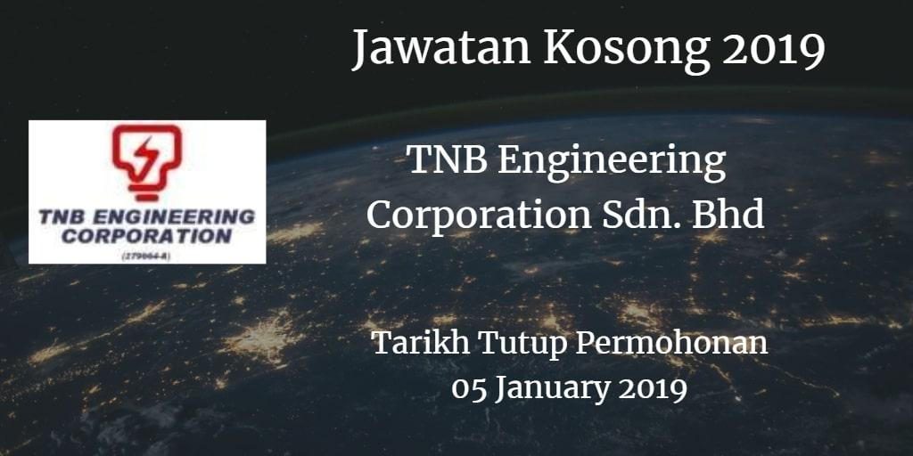 Jawatan Kosong TNB Engineering Corporation Sdn. Bhd 05 January 2019