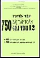 Tuyển Tập 750 Bài Tập Toán Giải Tích 12 - Nguyễn Sinh Nguyên
