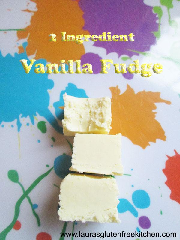 2 ingredient Vanilla Fudge