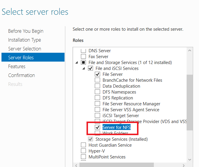 HYPER-V,SYSTEM CENTER AND AZURE: How to Setup NFS Server Using