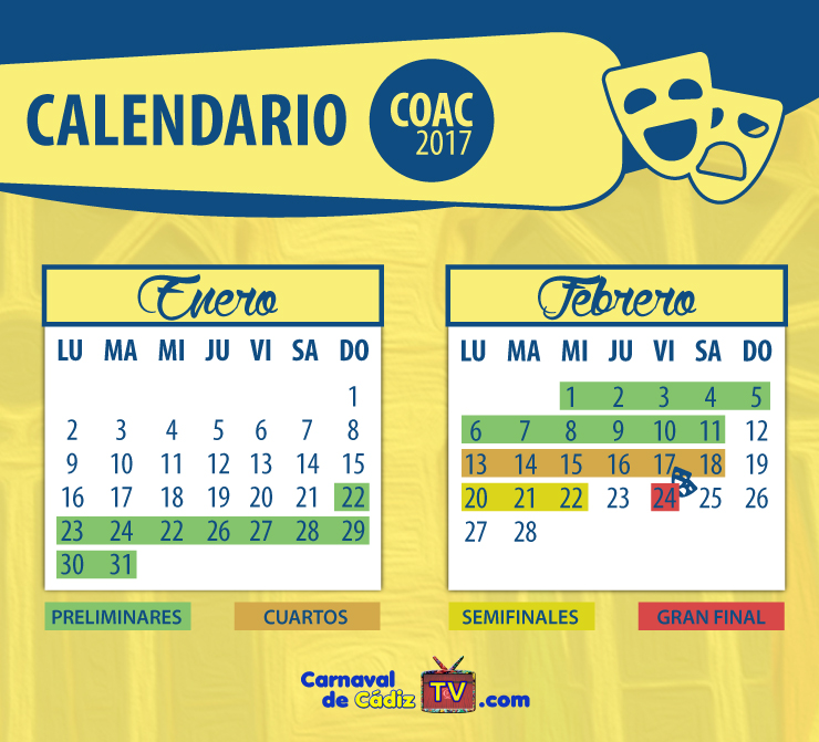 Coac 2017 carnaval de c diz 2017 for Cuartos de final carnaval 2017
