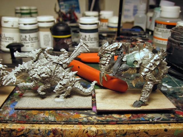 Epic Tyranid Heirodule Size Comparison