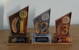 Great Northern Minigolf Open trophies