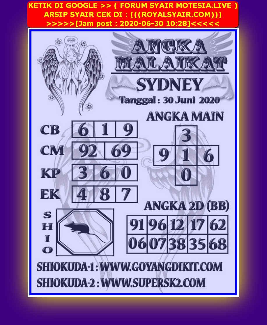 Kode syair Sydney Selasa 30 Juni 2020 238