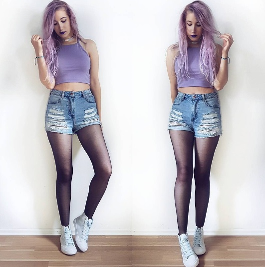 12 Pastel Goth Makeup and Outfits to Inspire You Instagram schimmeleinhorn lavender hair