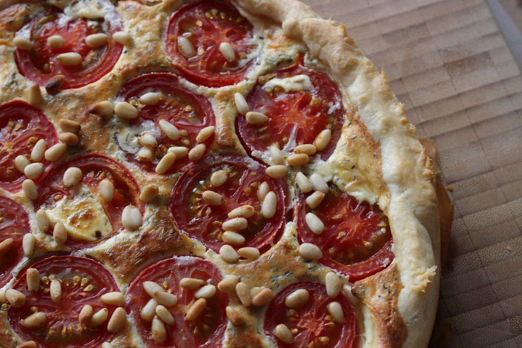 Ziegenkäse-Tomaten-Tarte