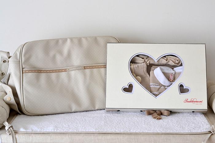 accessori neonato beige