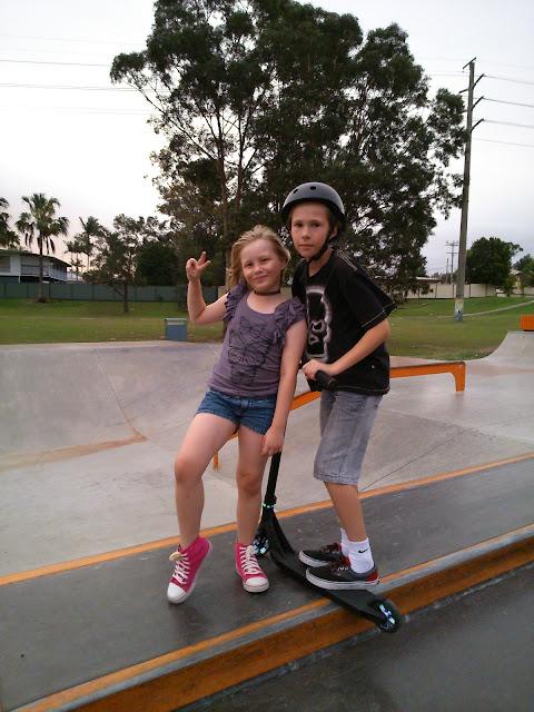 Kids in the skate park