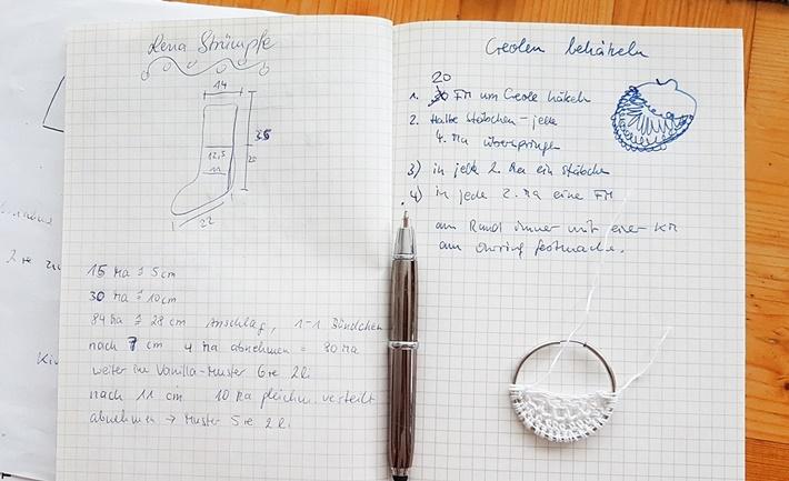 handschriftliche Anleitung zum Creolen behaekeln