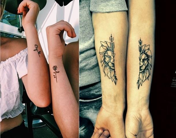 tatuagens para fazer com sua melhor amiga