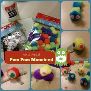 http://lowincomerelief.com/easy-crafts-for-kids-pom-pom-monsters/