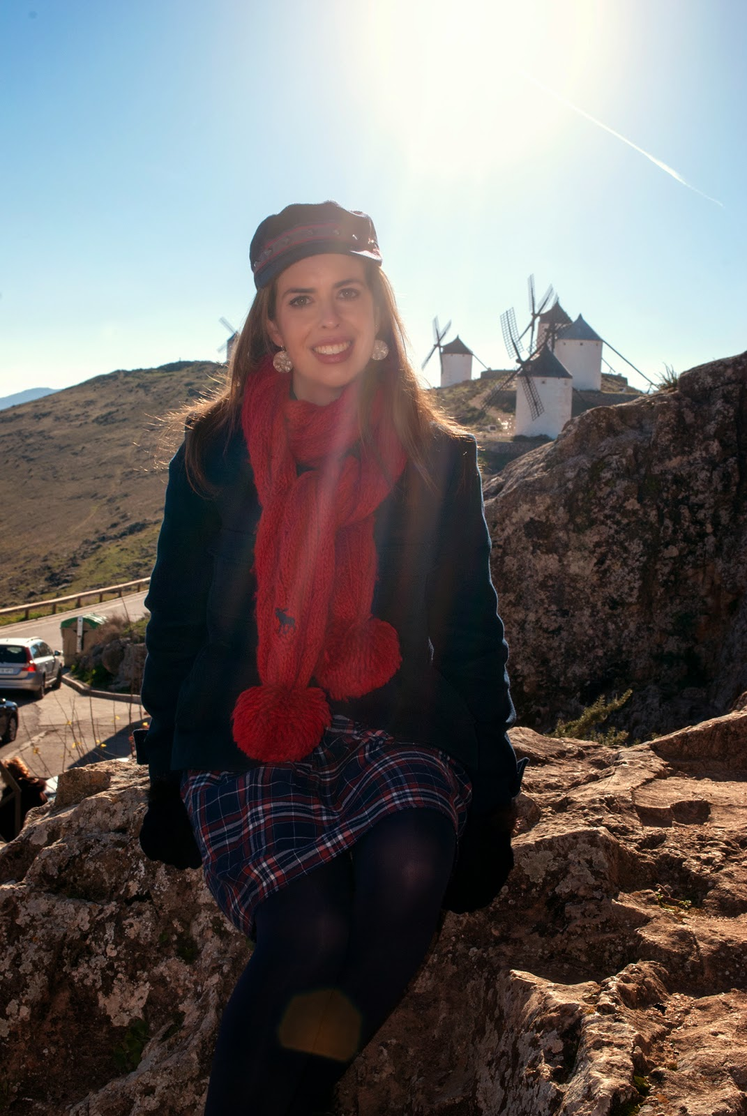 consuegra toledo spain winter windmills travel outfit
