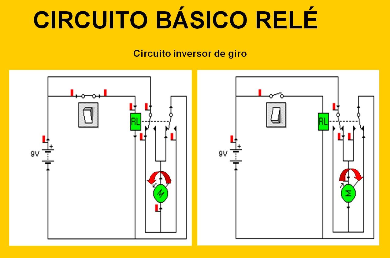 Circuito Basico : Taller de tecnologías eso: circuito inversor de giro con relÉ