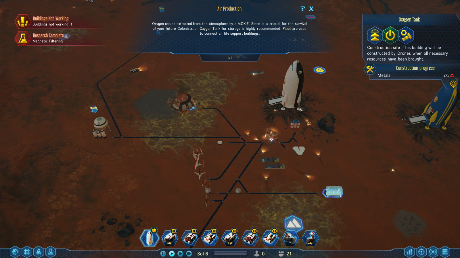 Gameplay Surviving Mars PC Review